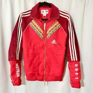Suede Leather Adidas Pharrell Afro HU Track Jacket